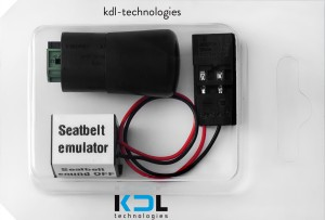 Mat emulator 2 pin BMW E60, E61 + seat belt emulator (plug)