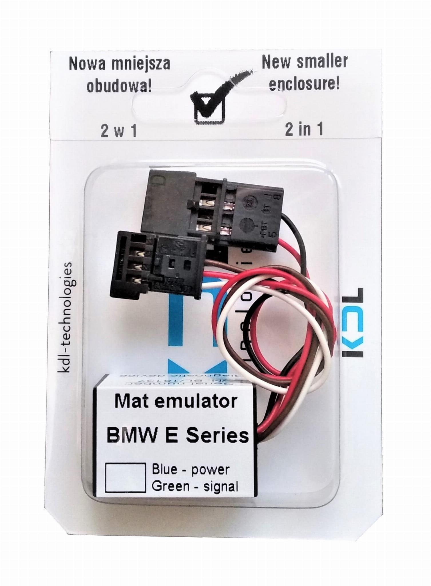 BMW E60 E61 seat occupancy sensor emulator with a seat belt simulator - US/  EU